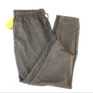 Men's Jogger Pants - Grey Elastic Waist Fast Dry